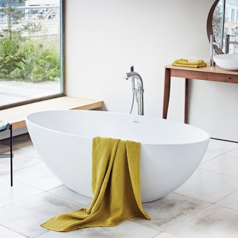 Waters Elements Ellipse 1760mm Freestanding Bath