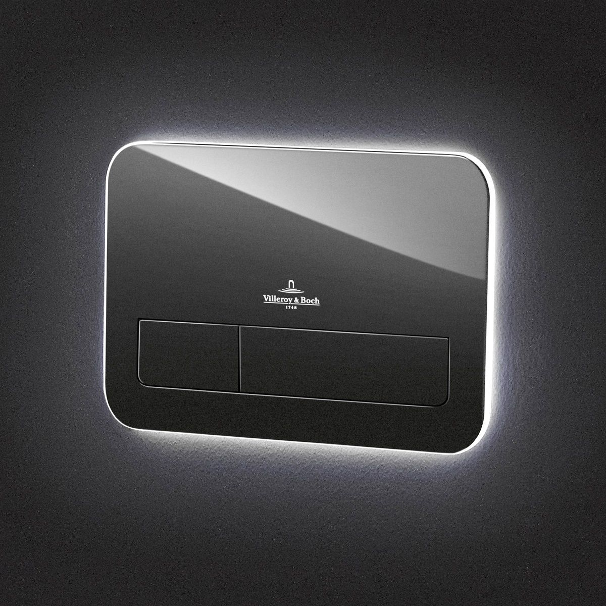 Villeroy & Boch ViConnect 200G Glass Flush Plate With LED Lighting