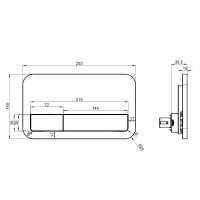 Villeroy & Boch ViConnect 200S Flush Plate