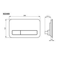 Villeroy & Boch ViConnect 200G Glass Flush Plate